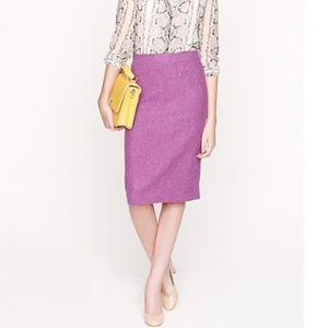 J. CREW Purple Wool No. 2 Pencil Skirt